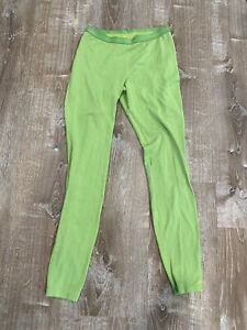 Patagonia Women Capilene 3 Midweight Length Neon Green Base Layer Pant Small
