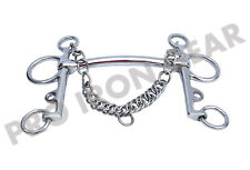 Pelham Mullen Mouth Horse Bit With Curve Stainless Steel