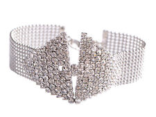 Fashion Silver Crystal Rhinestone Silver Plated Bracelet Bangle Jewelry Gift