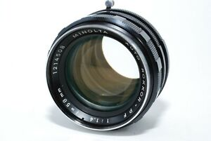 """EXCELLENT++"" MINOLTA AUTO ROKKOR-PF 58mm f/1.4 from japan"