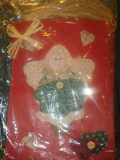 10 PATCHWORK QUILTED ANGELS GIFT/PACKAGING/ WRAPPING/PAPER BAGS W/ ROPE HANDLES