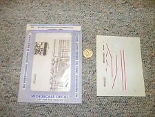 Microscale decals HO MC-4189 General Electric AC-6000CW Demo loco 1996+  J131
