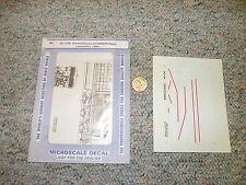Microscale decals HO MC-4189 General Electric AC-6000CW Demo loco 1996+  J131