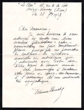 FIRMIN TOUCHE French VIOLINIST autographed letter signed