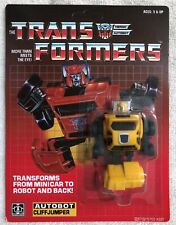 TRANSFORMERS G1 AUTOBOT YELLOW CLIFFJUMPER MOSC! US SELLER RARE!