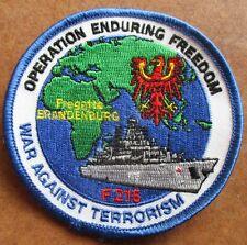 Fregatte BRANDENBURG  OP Enduring Freedom  Marine Patch Abzeichen Navy