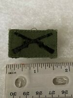 Authentic US Army Infantry Branch Officer BDU OD Green Insignia Patch
