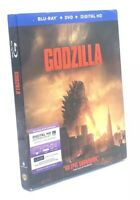 Godzilla [2014]  (Blu-ray+DVD+Digital HD, 2014; 2-Disc Set) NEW w/ OOP Slipcover