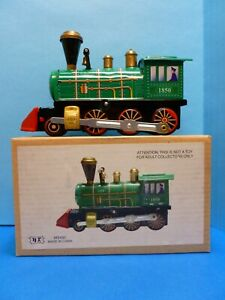 Schylling Wind-up Collectible Tin Locomotive with Key and Box (MS432)