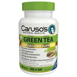 Caruso's Green Tea 50 Tablets Metabolism Support Weight Loss Energy Carusos