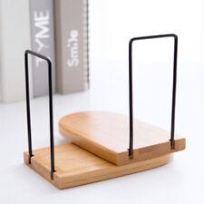 1Pcs Anti-skid Bookends Shelf Holder Wood Book Holder Home Office Desk Organizer