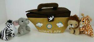 ebba/Aurora Noah's Ark Playset-Lion, Elephant, Zebra, Giraffe-Makes Animal Noise