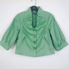 Samuel Dong Designer Cocktail Dinner Jacket Green Small Women's Waist Length EUC