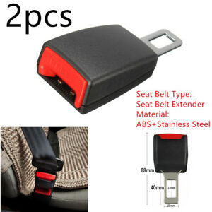 2pcs Durable Car Safety Seat Belt Buckle Extension Extender Clip Universal Tool