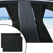 1Set Car Window Curtain Sunshade Universal Baby VIP Van SUV UV Visor Kit Black