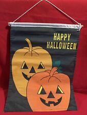New listing Banner,Jack-O'-Lan tern,Pumpkin,Halloween,Sig n,Flag,Wall Hanging,Vintage,1980s