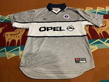 VNTG🔥 Paris Saint-Germain PSG OPEL Mens Soccer Jersey Sz L 2000-2001 Made in UK