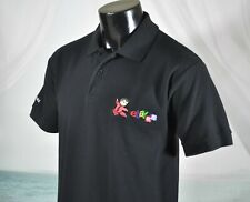 EBAY China Embroidered Chest Logo GOLF POLO SHIRT Sz XL M? L? Black EUC