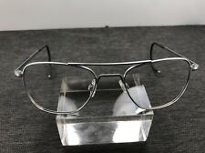 Vintage Randolph Engineering Sunglasses AF-52-20 Cable Temple Matte Silver Q72