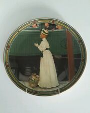"Norman Rockwell ""Mother's Welcome"" Collector Plate Limited Edition, 1986 - Coa"