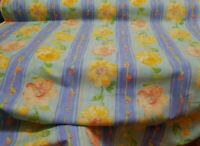 "Vintage yellow  Floral Cotton Made In England, 54"" wide, sold by yard"