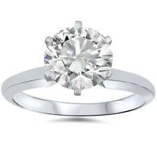 D/I1 1.50CT Diamond Solitaire 6-Prong Engagement Ring Enhanced