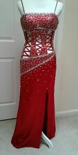 PRECIOUS FORMALS Floor Length Evening Dress Red Size 2
