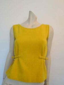 Vintage Sunny Yellow Wool Jerkin - 1960s - Bust 86 cm