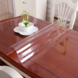 183X117cm Waterproof Clear Plastic PVC Tablecloth Protector Dining Table Cover