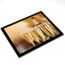 Mantel Individual De Cristal 20x25 Cm-celebración champán flauta gafas #16077
