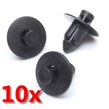 10x Black Plastic Rivets Trim Clips 8mm For Suzuki Bumpers Sills Trim Panel Clip