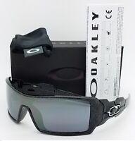NEW Oakley Oil Rig Sunglasses 24-058 Silver Ghost Text Black Iridium AUTHENTIC