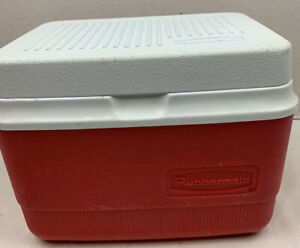 Vintage Rubbermaid Red GOTT Cooler Lunch Box !!! Item No. 0836