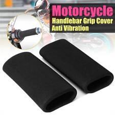 1Pair Motorcycle Slip-on Foam Handle Bar Grip Cover Anti Vibration Sponge Cover