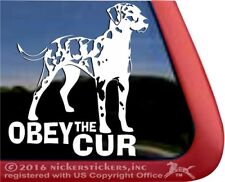 Obey the Cur | High Quality Catahoula Leopard Dog Vinyl Decal Sticker