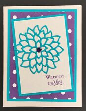 Handmade Warmest Wishes Floral Thinking of you Card, Friendship, Stampin' Up