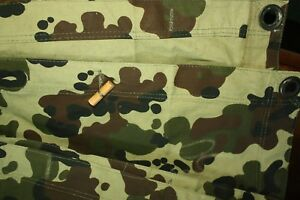 Camouflage m93 Army Tent Section / Wet Weather Poncho Line camo Fleck m1993