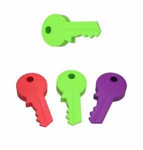 Plastic KEY DOOR STOPPER 3 Color Key Shape Door Wedge Stopper 13cmOffice Home