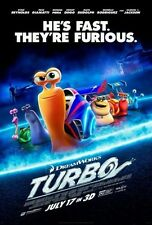 DREAMWORKS ANIMATED TURBO 13X20 in. MOVIE POSTER FUNNY FAST SNAIL CARS INDY 500