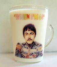 THE FAB FOUR When I'm 64 GLASS COFFEE MUG 64th Birthday Gift UNUSUAL