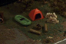 7pc camp site DOME TENT boat firewood more N Scale O/G