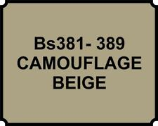 Cellulose Car Body Classic Vintage Paint BS381-389 CAMOUFLAGE BEIGE Gloss
