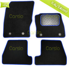 Ford Focus MK3 inc RS ST 2011> Tailored Carpet Set Floor Mats + Blue Trim Rubber