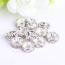 Jewellery Decor 8mm Crystal Rhinestone Rondelle Spacer Beads 100pcs Wholesale AU