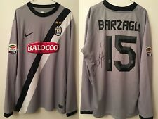 Juventus MATCH WORN ISSUED   Barzagli Serie A 2010 2011 Signed