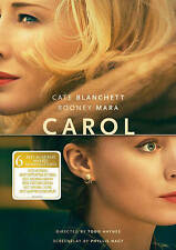 CAROL (DVD, 2016, Widescreen) New / Factory Sealed / Free Shipping