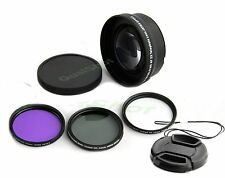 52mm Telephoto lens 2X + hood + UV, CPL filters +cap for Nikon D5000 D5100 D3100