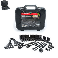 Husky Mechanics Tool Set 100-Position Rachet Blow-Mold Case Black (105-Piece)
