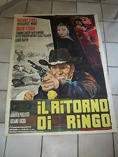 MANIFESTO,ITALIAN WESTERN,L RITORNO DI RINGO GIULIANO GEMMA DUCCIO TESSARI 1965