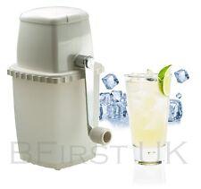 Plastique manuel frozen ice cube crusher main machine pour cocktail smoothies boissons